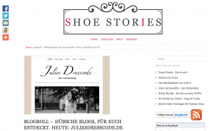 Blogvorstellung auf Shoestories.de