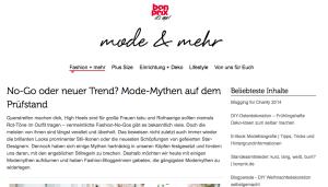 bon prix - No-Go oder neuer Trend? Mode-Mythen auf dem Prüfstand