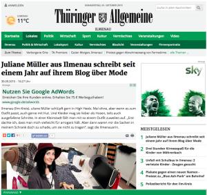 Thüringer Allgemeine Lokal Ilmenau Juliesdresscode