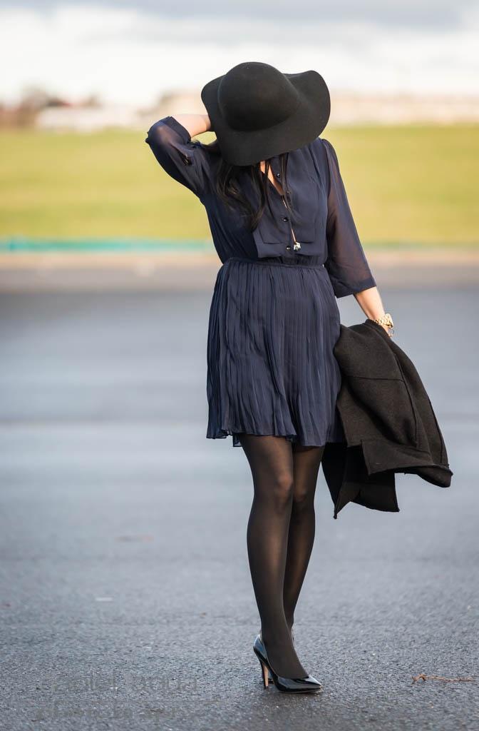 Classy in blue and black : ein Kleid für Weihnachten - Julies Dresscode
