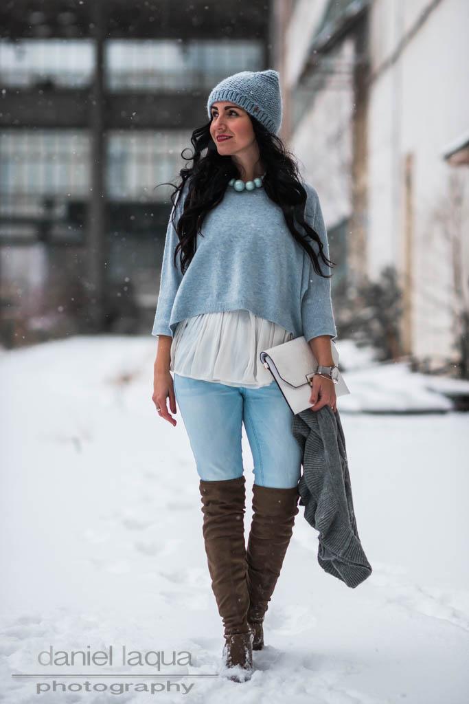 Light blue : cropped Pullover von Repeat Cashmere Julies Dresscode