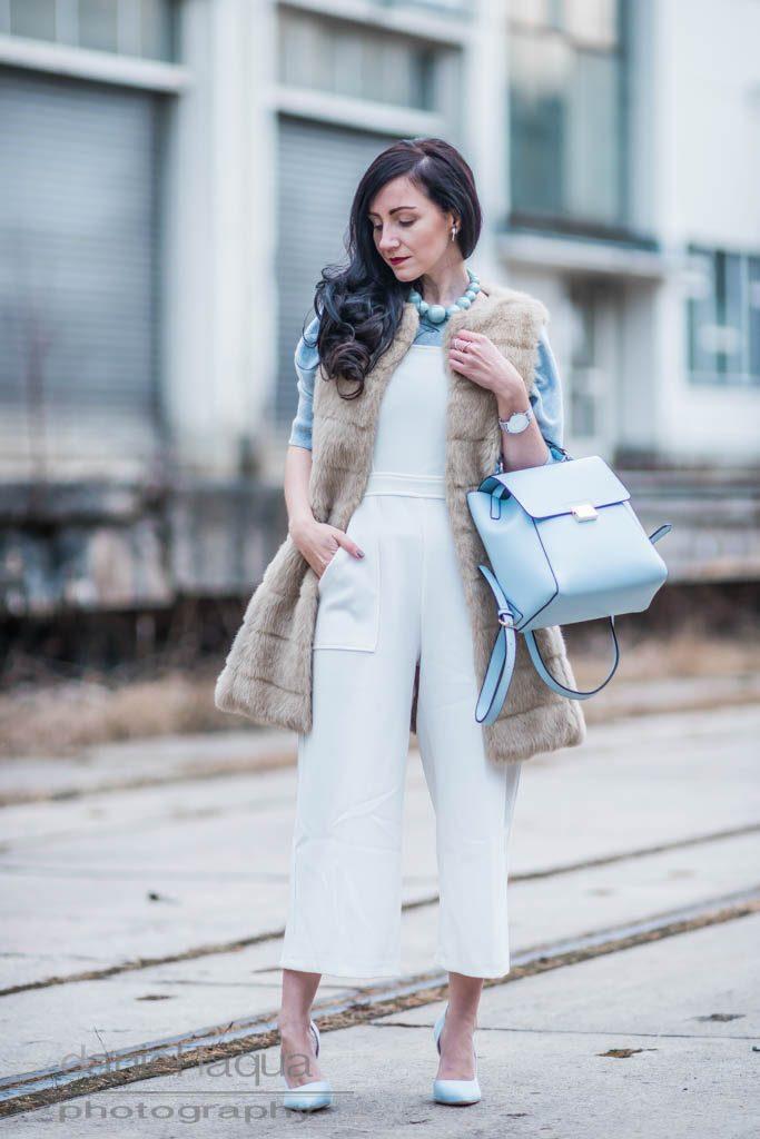 Weißer Jumpsuit <br> <em> Closet London </em> Julies Dresscode