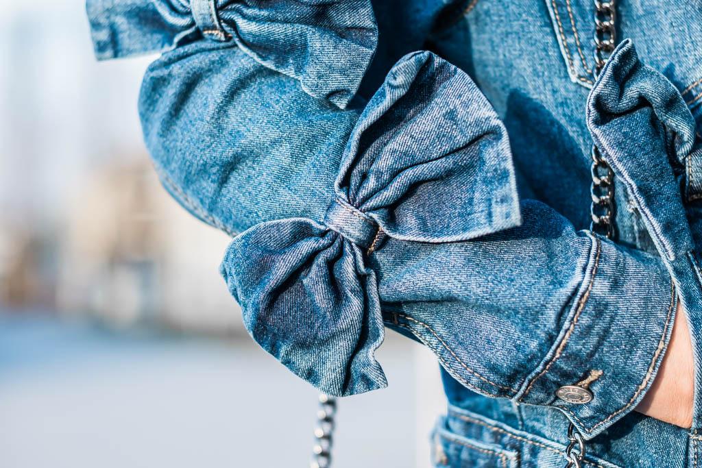 Er & Sie Jeansjacke mit Schleifen Julies Dresscode