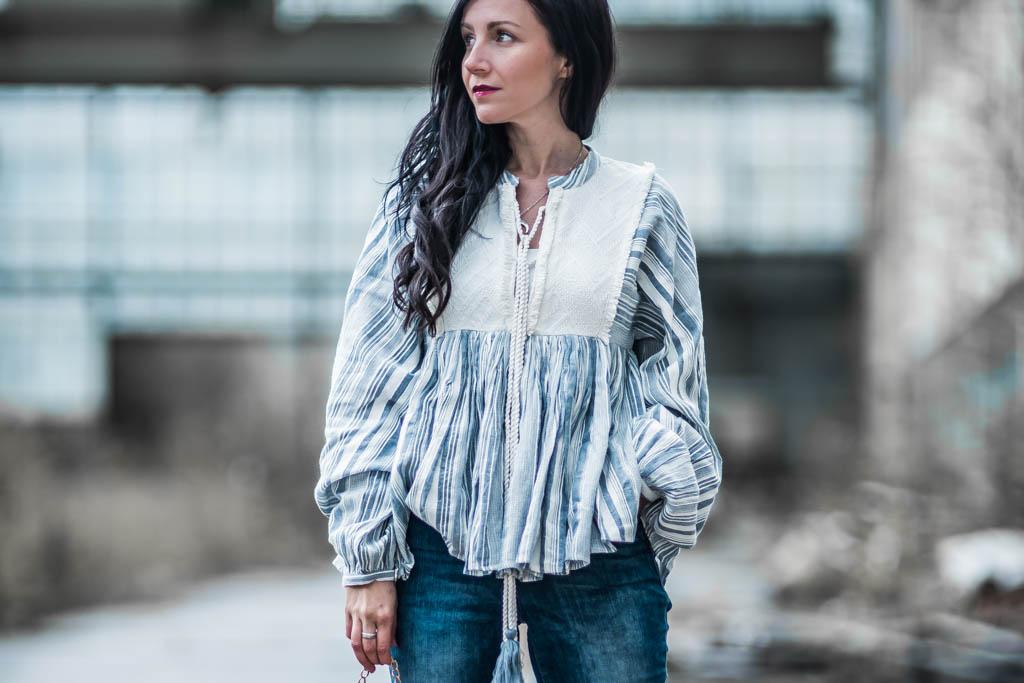 Bluse von Revel & Mietzen Tasche Julies Dresscode