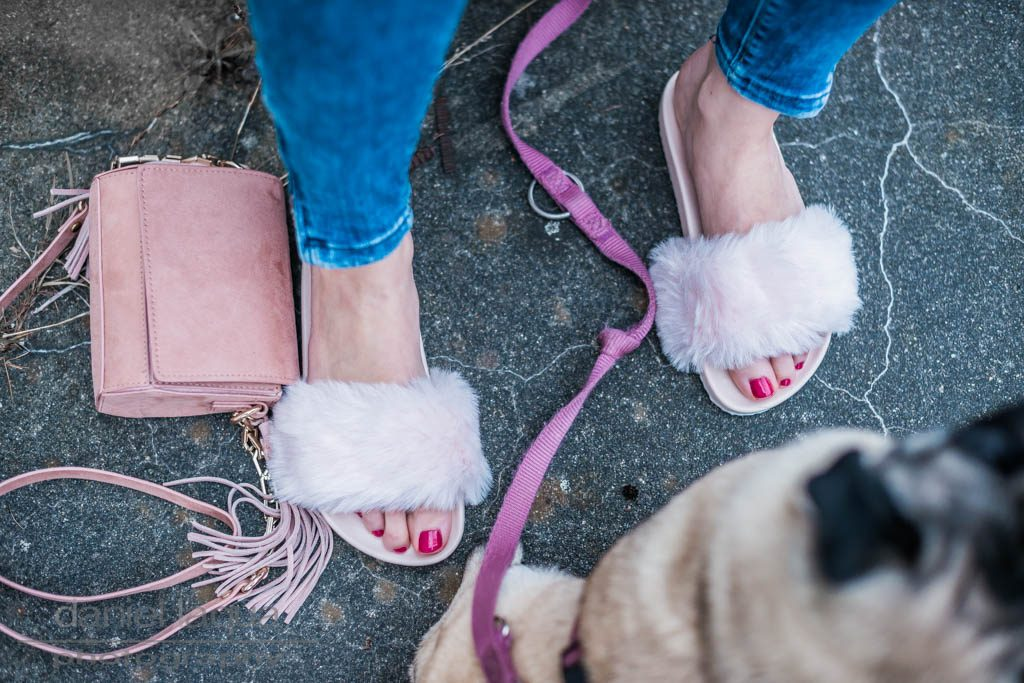 Er&Sie Badelatschen mit Fake Fur Julies Dresscode
