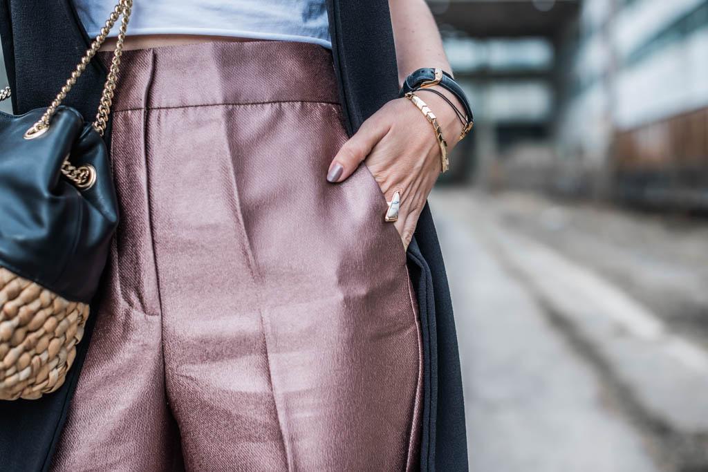 Kupferfarbene Hose von Zara Julies Dresscode