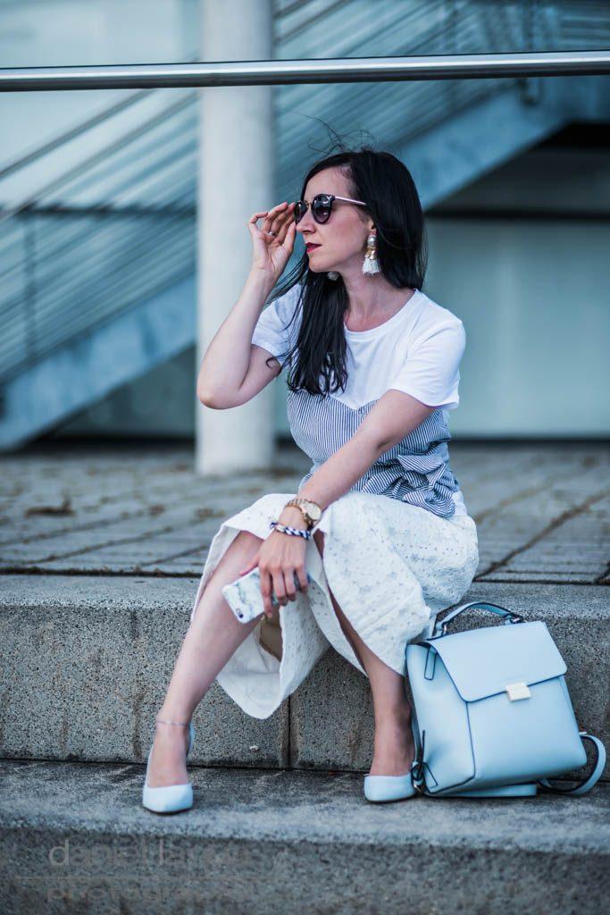 Sommer Outfit mit Shirt im Layering Look Julies Dresscode Fashion Blog