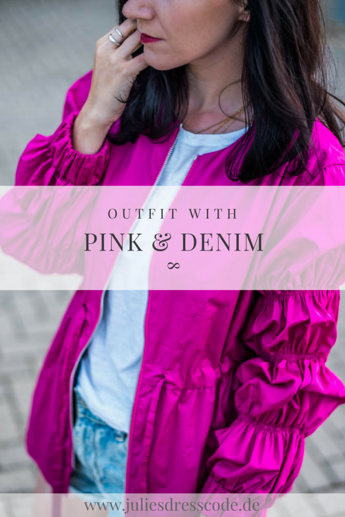 Leichte Sommerjacke & Denim Shorts Julies Dresscode Fashion Blog
