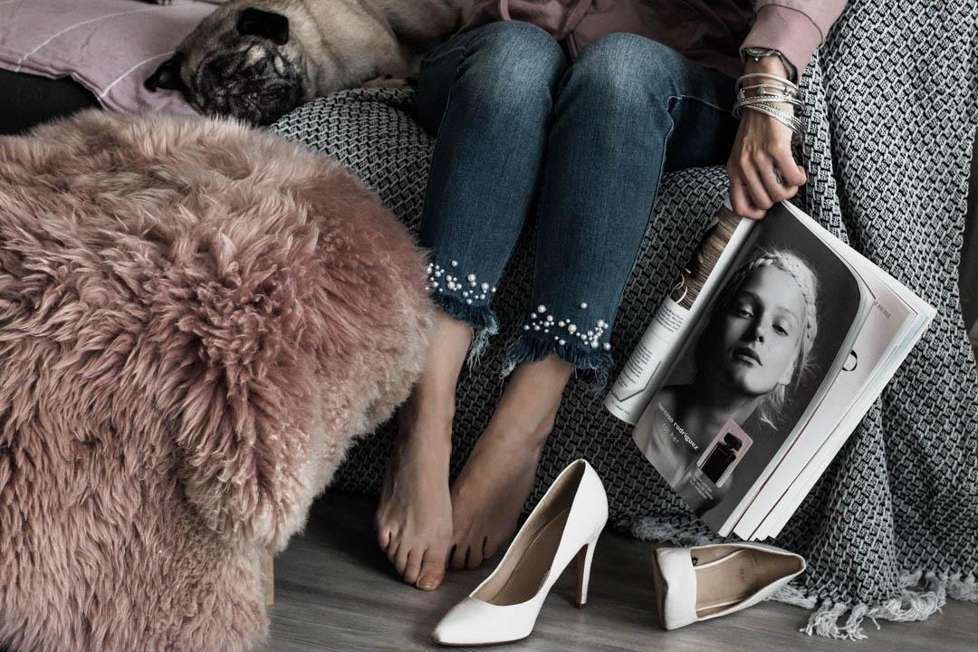 Jeans mit Perlen wie du deine alte Hose aufpeppst - Julies Dresscode