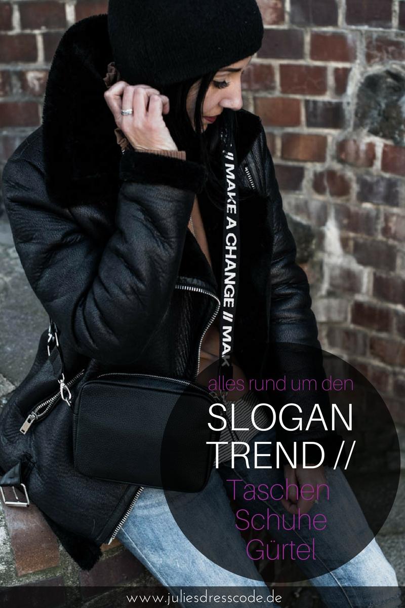 Trend watch : Taschen-Straps & Gürtel mit Slogan und Logo Julies Dresscode Fashion Blog