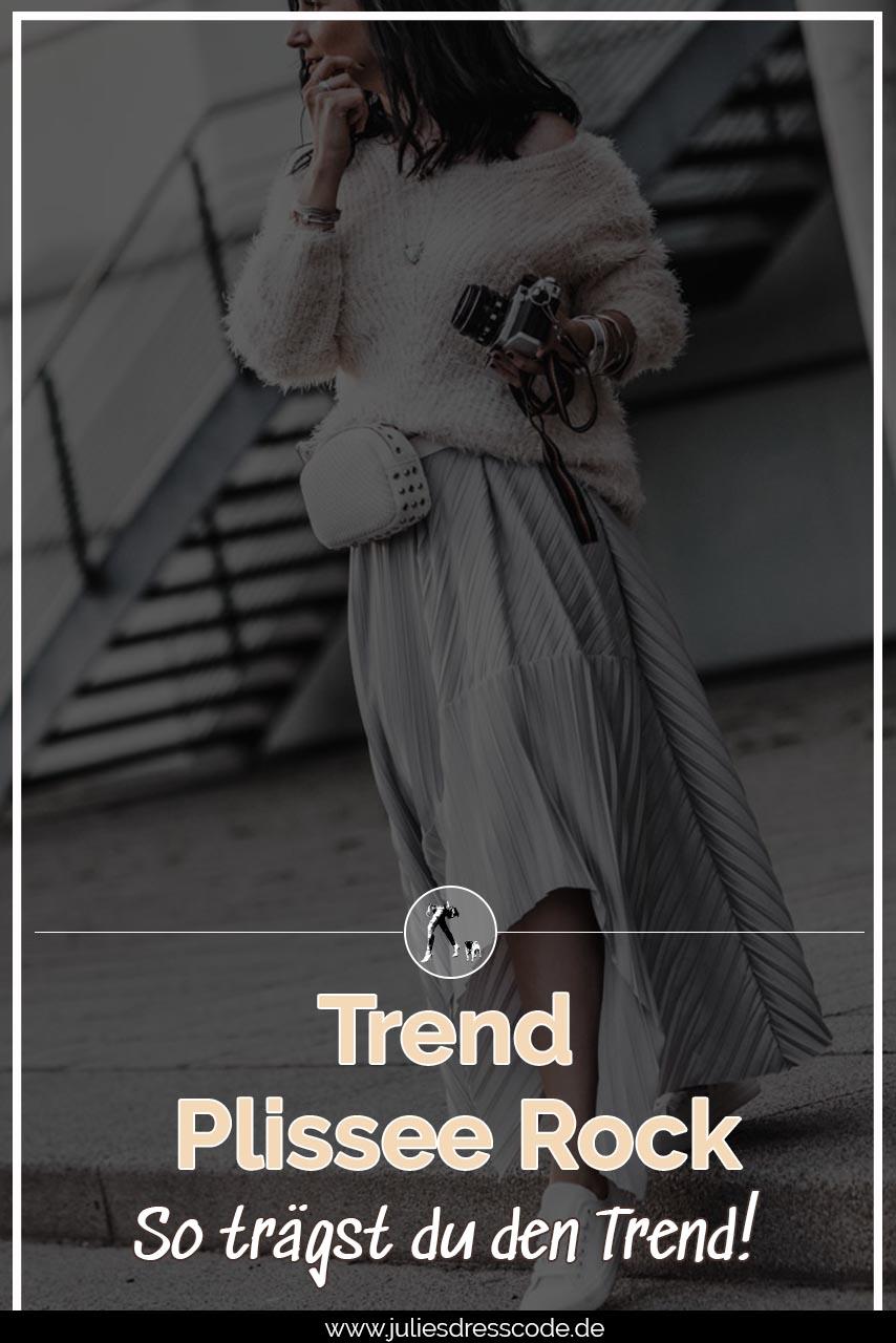 Trend Plisseerock - so trägst du Faltenröcke im Alltag