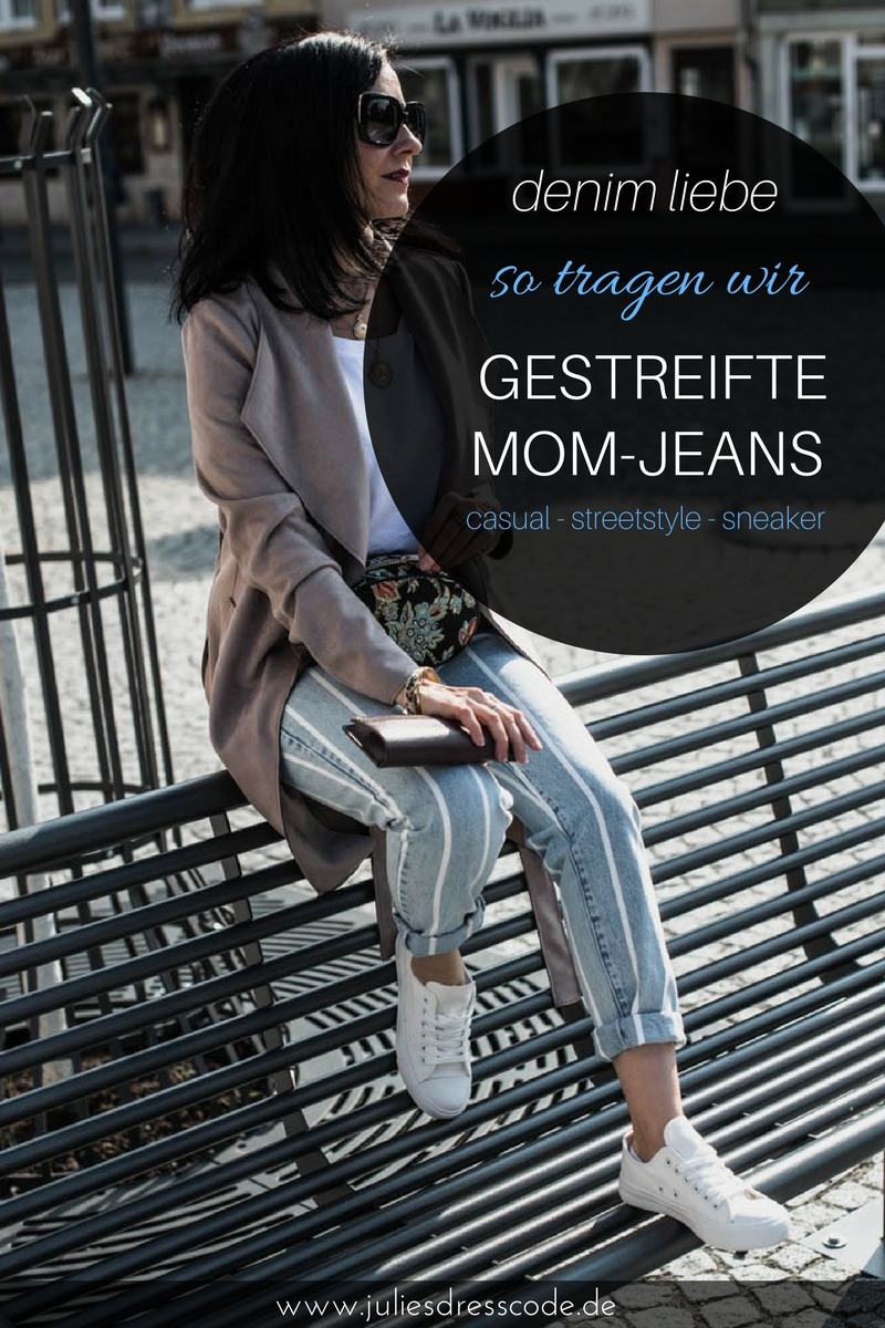 Reserved Look Gestreifte Mom-Jeans & Basics Julies Dresscode Fashion Blog