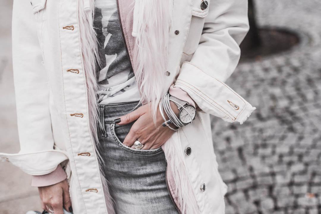 Outfitidee & Stylingtipps - So trage ich meine Jeansjacke im Winter - Julies Dresscode