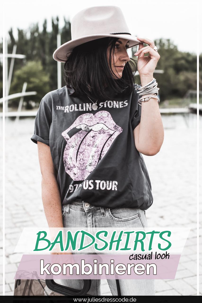 Outfit mit Bandshirt und warum wir Printshirts einfach brauchen Julies Dresscode Fashion & Lifestyle Blog