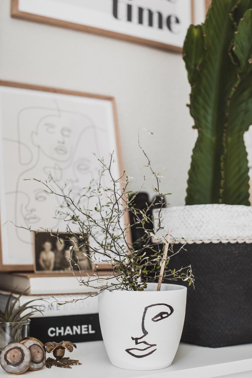 Line Art für zu Hause & Upcycling DIY Julies Dresscode Fashion & Lifestyle Blog