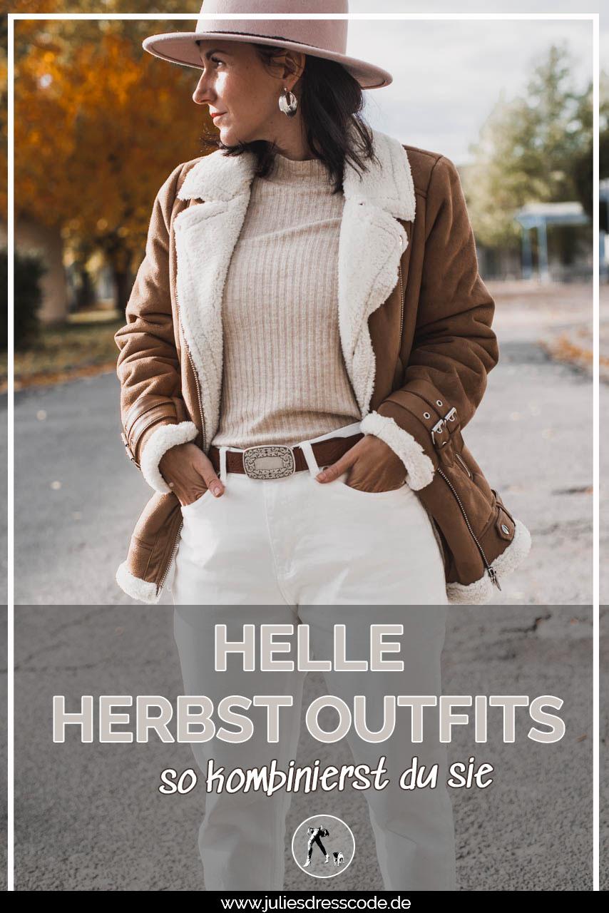 Helle Outfits im Herbst und Winter - so kombinierst du sie richtig Julies Dresscode Fashion & Lifestyle Blog