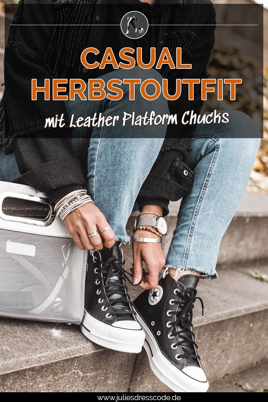 Outfitidee : Casual Herbstoutfit mit Chucks Julies Dresscode Fashion & Lifestyle Blog