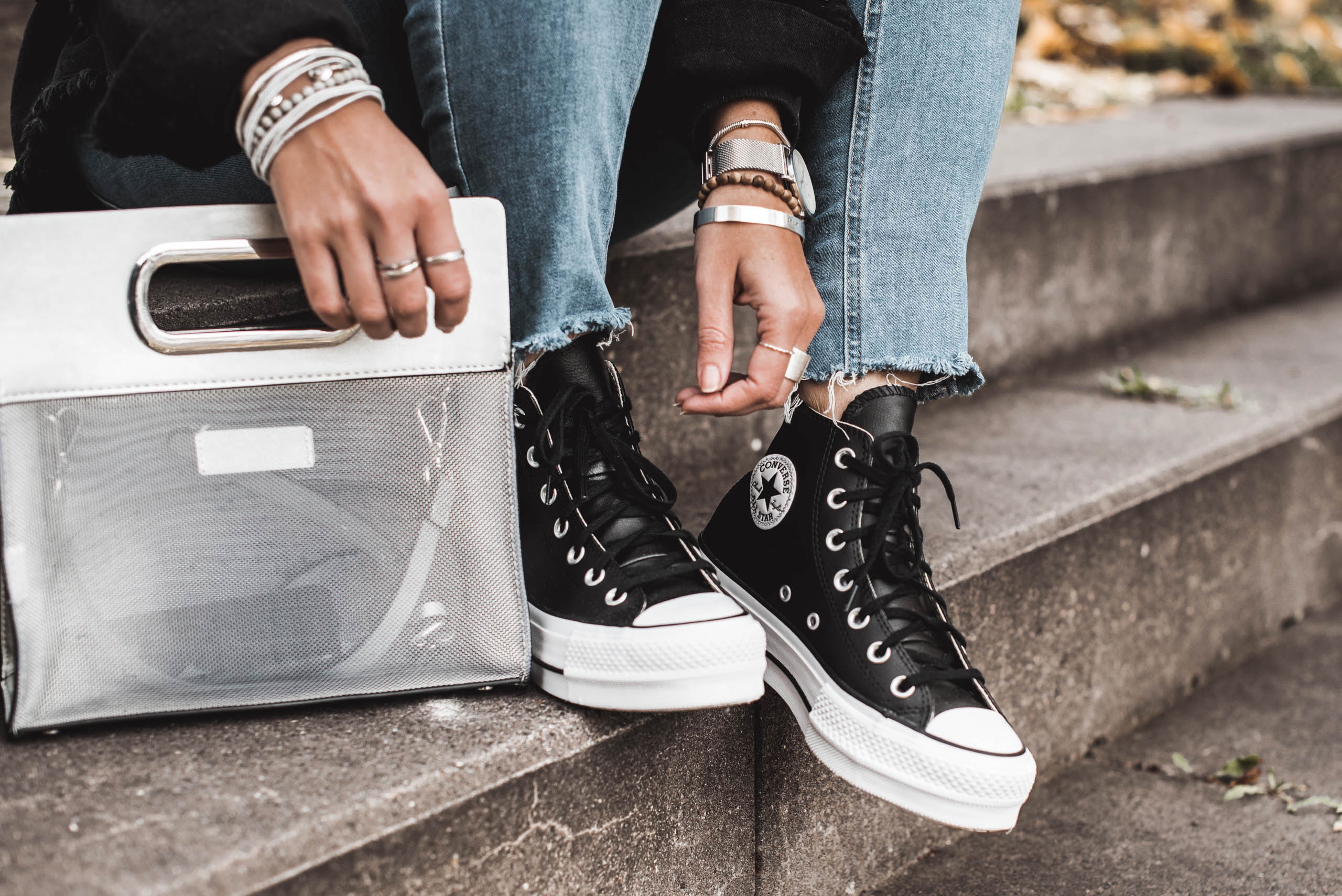 Outfitidee : Casual Herbstoutfit mit Chucks - Julies Dresscode